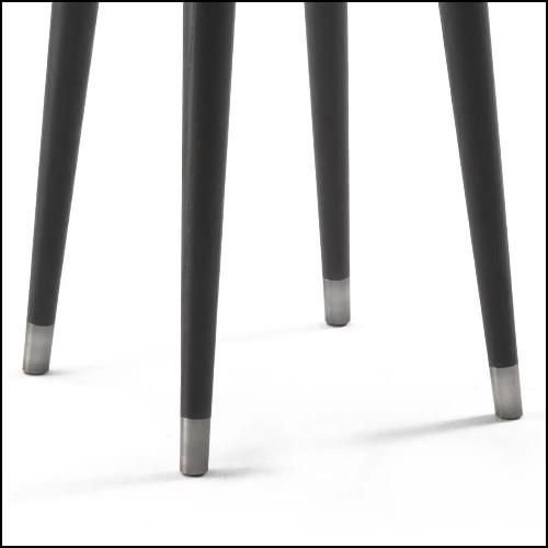 Table basse en laiton avec plateau en bois de Suar en incrustation 24-Concord