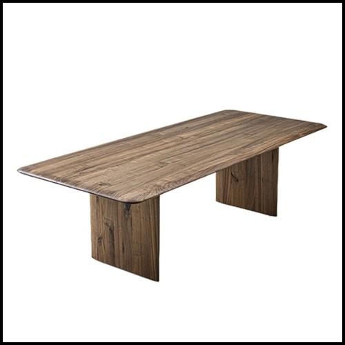 Table basse en acier inoxydable avec plateau en marbre résine 24-Tatler