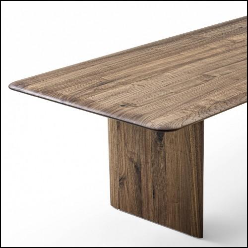 Table d'appoint en laiton avec plateau en bois de Suar en incrustation 24-Concord