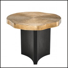 Table d'appoint en bois avec plateau finition laiton 24-Thousand Oaks