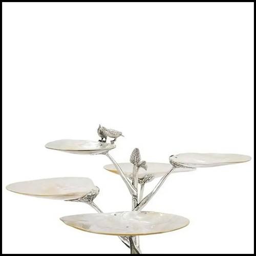 Table d'appoint avec structure en acier inoxydable finition noir 24-San Ramon