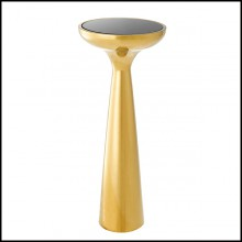 Sellette with structure in stainless steel in gold finish 24-Lindos Gold