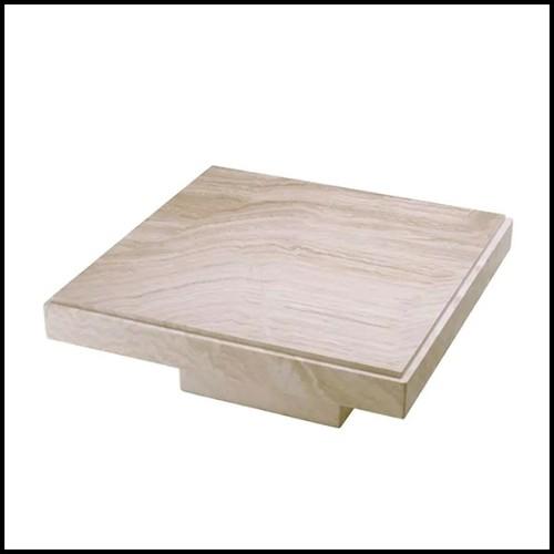 Table d'appoint avec structure en acier inoxydable finition gold 24-Lindos Gold