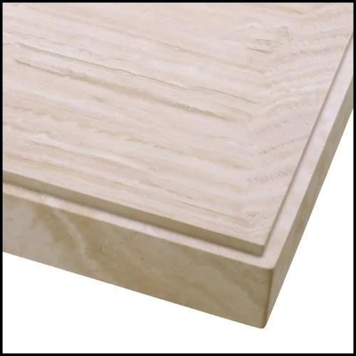 Side Table in black marble 24-Adler Black