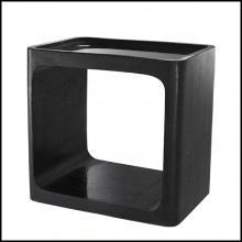 Table d'appoint en marbre noir 24-Vesuvio Black
