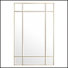 Mirror in brass in vintage finish and mirror glass 24-Beaumont Brass