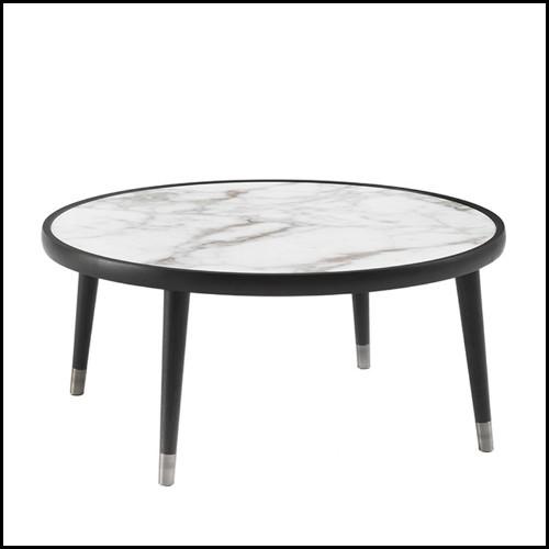 Miroir avec cadre en nickel et verre miroir 24-Beaumont Nickel