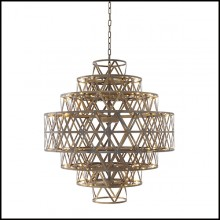 Chandelier en laiton finition antique 24-Clinton Brass