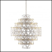 Chandelier finition nickel 24-Clinton Nickel