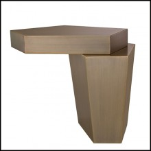 Table d'appoint en laiton finition brossé 24-Calabasas Brass