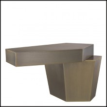 Table basse en laiton finition brossé 24-Calabasas Brass