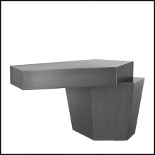 Coffee Table in iron in brushed finish 24-Calabasas Iron
