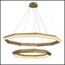 Chandelier in brass in antique finish with integrated LED lights 24-Helvetia