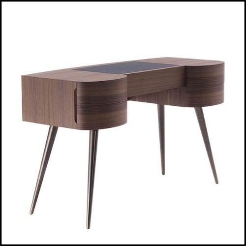 Chandelier en nickel et verre clair cristal 24-Amazone S