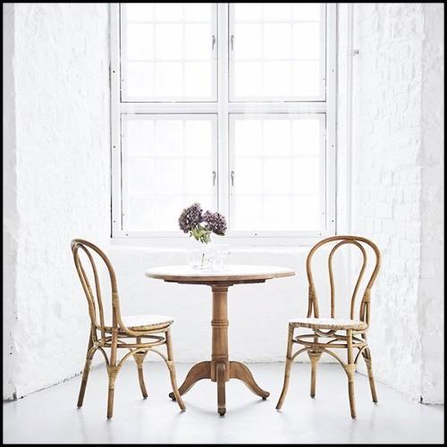 Table en laiton et bronze avec plateau en verre finition bronze 146-Ellipse Brass and Bronzed