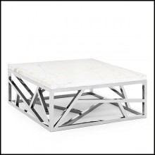 Table base avec base en métal finition chrome 162-Raytona Chrome