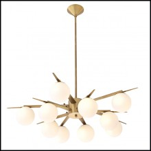 Chandelier with structure in brass in antique finish 24-Venezia