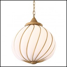 Chandelier with structure in brass in antique finish 24-Romano