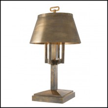 Lamp with structure in stainless steel in vintage brass finish 24-Ultra