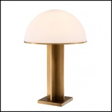 Table Lamp with structure in brass in antique finish 24-Berkley