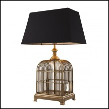 Table Lamp with structure in brass in vintage finish 24-Senator