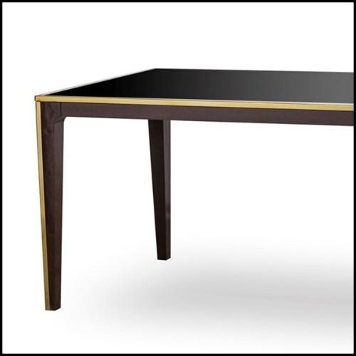 Lampe avec structure en fer et base en verre cristal 24-Setai Amber