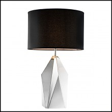 Table Lamp with structure in stainless steel in nickel finish 24-Setai Nickel