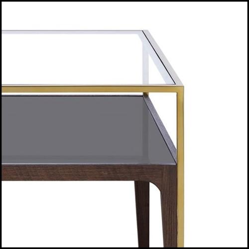 Lampe avec base en marbre blanc et détails en laiton finition gold 24-Dax