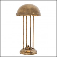 Table Lamp with structure in brass in vintage finish 24-Livre