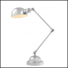 Lampe avec structure en acier inoxydable finition nickel 24-Soho Nickel