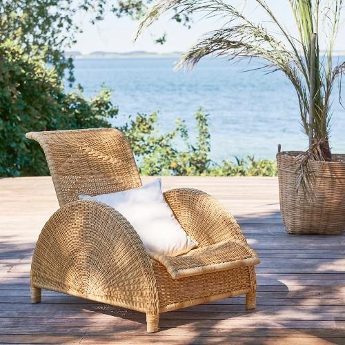Lampadaire Triple avec structure en acier inoxydable finition laiton vintage 24-Kon Tiki Triple
