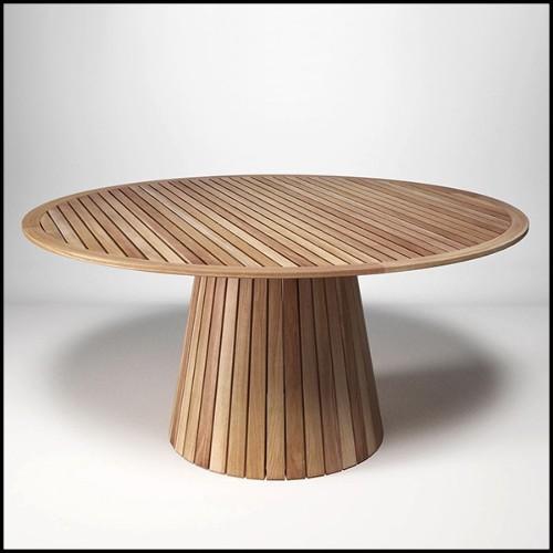 Table basse avec marbre noir et avec base in noyer massif 163-Dark Night