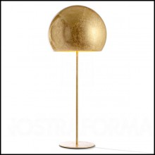Floor Lamp with iron base and with aluminum shade 107-Dome Gold Leaf