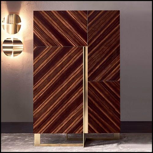 Lampadaire avec base en fer et avec abat-jour en aluminium 107-Dome Gold Leaf