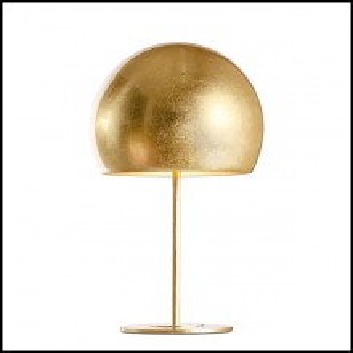 Lampe avec base en fer et abat-jour en aluminium 107-Dome Gold Leaf