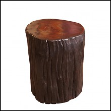 Stool in natural solid ebony wood PC-Ebony A
