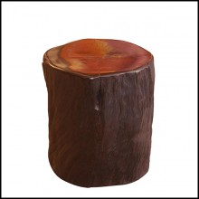 Stool in natural solid ebony wood PC-Ebony B