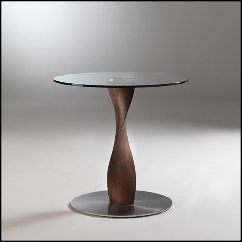 Applique avec structure en acier inoxydable finition laiton vintage 24-Kon Tiki