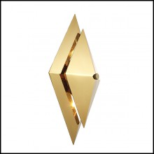 Wall Lamp with structure in gold finish 24-Augusta Gold