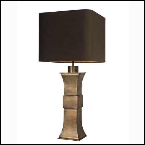 Applique avec structure en acier inoxydable finition laiton vintage 24-Caruso