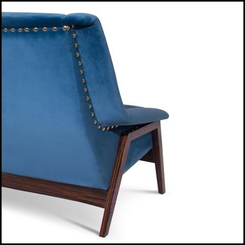 Applique avec structure acier finition gunmetal et verre clair 24-Irving Bronze