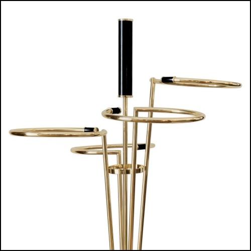 Applique avec structure finition laiton antique et verre clair 24-Irving Brass