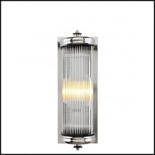 Wall Lamp with structure in nickel finish and clear glass 24-Glorious Nickel S