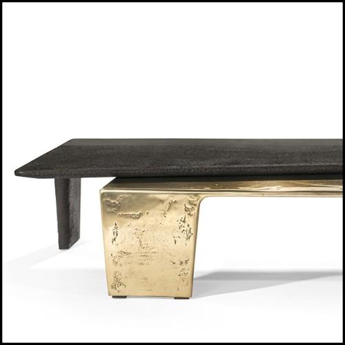 Applique avec structure finition laiton mat et verre clair 24-Glorious Brass S