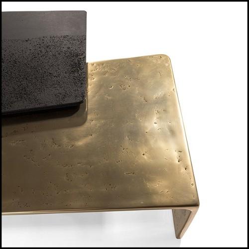 Applique avec structure finition laiton mat et verre clair 24-Glorious Brass L