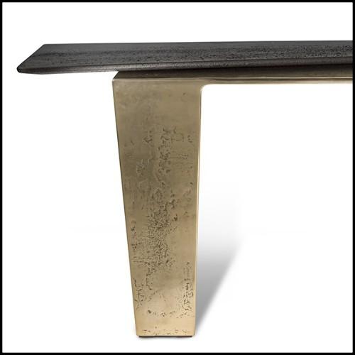Applique avec structure finition laiton mat et verre clair 24-Glorious Brass XL