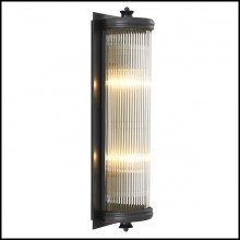 Wall Lamp with structure in bronze finish and clear glass 24-Glorious Bronze L