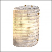Wall Lamp with structure in brass in antique finish 24-Elix