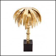 Table Lamp in solid brass in polished finish 24-Brass Palms