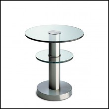 Table d'appoint avec structure en métal finition matte 40-Double Rings